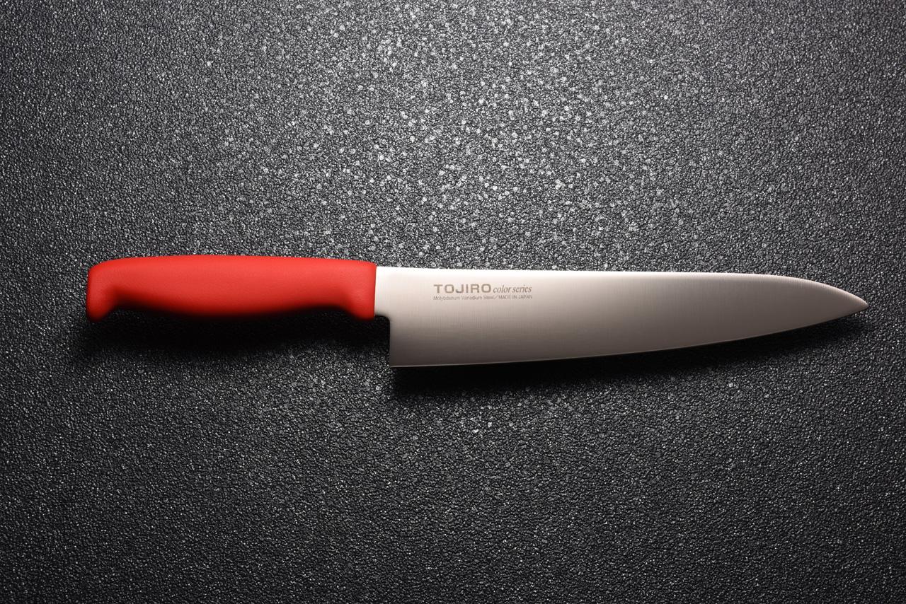 トウジロウカラー庖丁牛刀21cmレッド