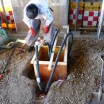 カーゲート基礎工事 配管工事 一時側電源工事