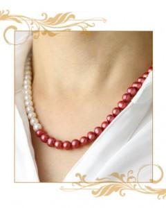 還暦赤真珠ネックレス